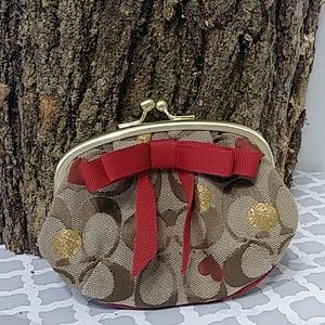 Cute Coach Coin Bag/ Clutch